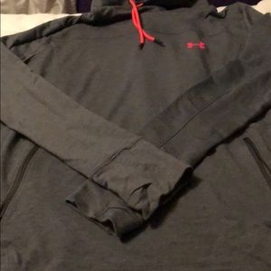Under armour grey and pink sweatshirt
